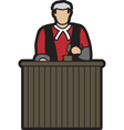 judge cartoon vector image vector image