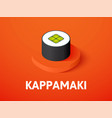 kappamaki isometric icon isolated on color vector image vector image