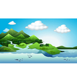 Land and water resources vector image vector image