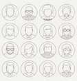 Line Avatars vector image