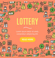 lotto signs design round design template line icon vector image