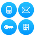 Mobile Email Key and Office vector image vector image