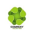 modern green cross logo vector image vector image