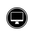 monitor screen flat icon technology icon vector image vector image