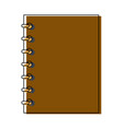 notebook spiral study writing element vector image