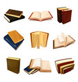old books set literature and library symbol vector image vector image