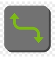 Opposite Bend Arrow Rounded Square Button vector image