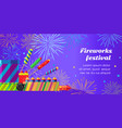 organization of fireworks festival pyrotechnic vector image vector image