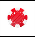 red casino chip cartoon style isolated vector image vector image