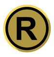 registered trademark sign flat black icon vector image