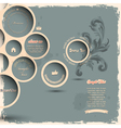 Retro design bubbles on grunge background vector image vector image