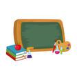 school books cartoon vector image vector image