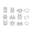 set chat bot icon faces vector image vector image