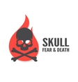 skull with flame logo or icon vector image