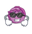 super cool red cabbage character cartoon vector image vector image