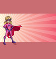super girl ray light background vector image vector image
