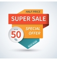 Super sale special offer banner background vector image vector image