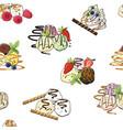 sweet ice cream seamless pattern vector image vector image