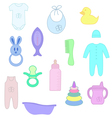 Things for baby vector image vector image