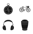 travel training and or web icon in black style vector image vector image