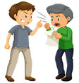two angry men arguing vector image