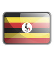 uganda flag on white background vector image vector image