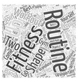 workout routine Word Cloud Concept vector image vector image