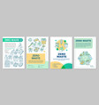 zero waste lifestyle brochure template layout vector image vector image