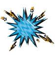 blue comic bubble speech explosion pop art vector image