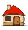 Cartoon house isolated on white background vector image