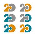 20 twenty puzzle linked number vector image vector image