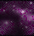 abstract black background with retro pink glitter vector image