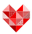 abstract patchwork heart vector image