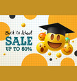 back to school sale poster and banner with flying vector image vector image