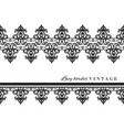 black lace border set vintage isolated on white vector image vector image