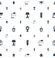 bulb icons pattern seamless white background vector image vector image