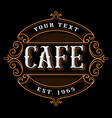 cafe logo design vector image vector image