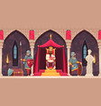 castle people composition vector image vector image