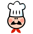 Chef Man Face Cartoon vector image vector image