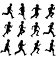 children running vector image