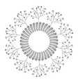 circular crown with leaves vector image vector image