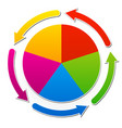 circular presentation infographic element vector image