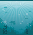 colorful background sea landscape underwater vector image