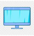 computer monitor icon in cartoon style vector image vector image
