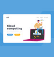 computing technology landing page template tiny vector image