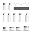 Cosmetic bottles templates vector image