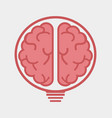creative brain flat logo vector image