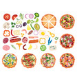 designer for pizza design pizza set making pizza vector image