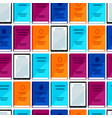 digital library seamless pattern set books and vector image vector image