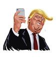 Donald Trump and Social Media Portrait vector image vector image